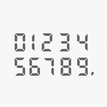 digital: Calculator digital numbers. Illustration