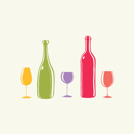 wineglasses: Wine bottle and a wineglasses