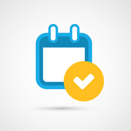 check icon: Vector Calendar Icon - check mark Illustration