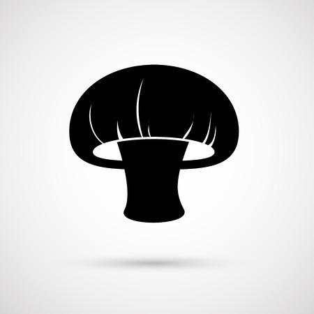 champignon: Brown vector  champignon mushroom