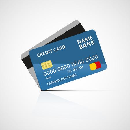 visa credit card: Credit card icon Illustration