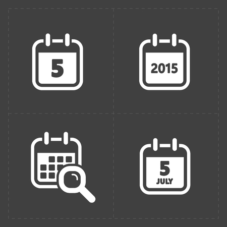 event icon: Vector White Calendar Icons Illustration