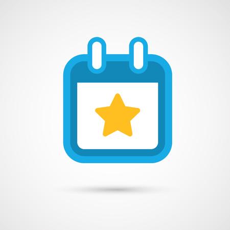 favorite number: Vector Calendar Icon - star