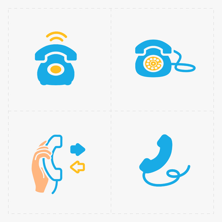 hang up: Phone colorful icons, vector illustration.