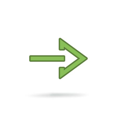 moderna icona della freccia