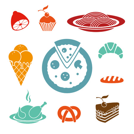 crusty: Food vector icons set Illustration
