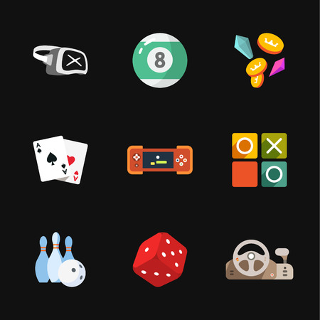 pool player: nine flat game icons