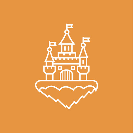 turret: Abstract castle icon Illustration
