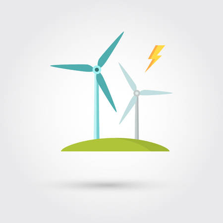 Windmills for electric power production 版權商用圖片 - 51037223