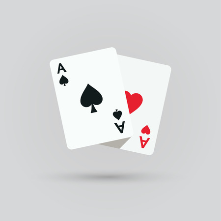 aces: Two aces. Winning poker hand