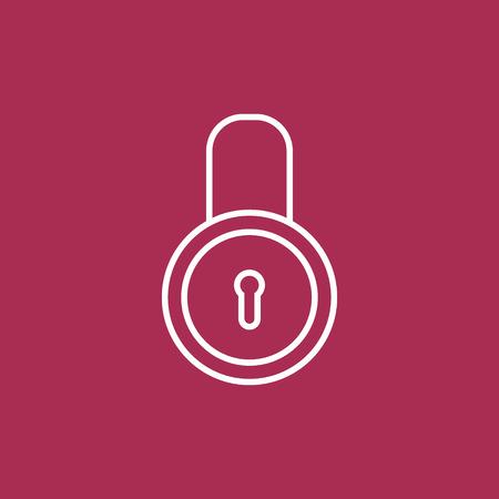 padlock icon: Padlock icon. Illustration