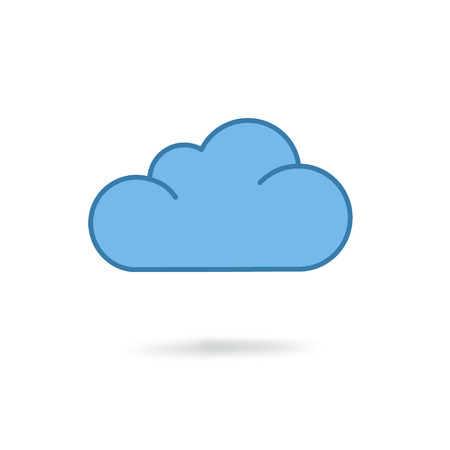 cloud: cloud icon. Flat design style