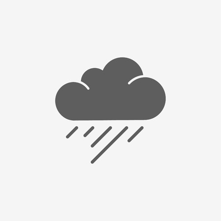 torrential rain: Rain Cloud Vector Illustration