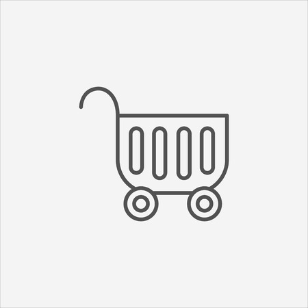 shopping cart icon: Shopping cart icon.