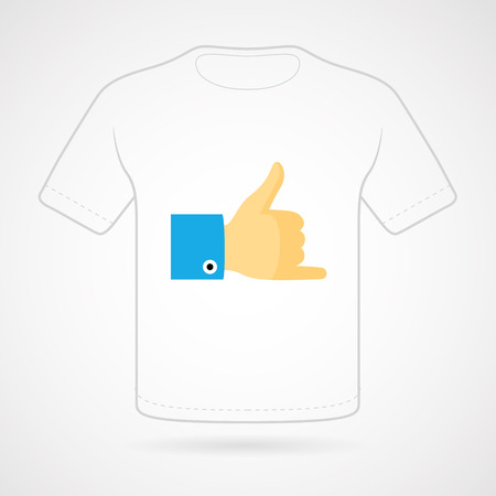 jest: T-shirt with funny print on white background. Vector  print.