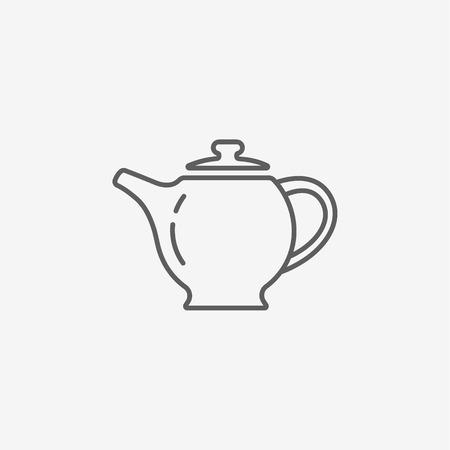 dinnerware: The teapot icon. Tea symbol