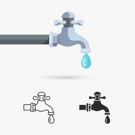 Wasserhahn mit Tropfen