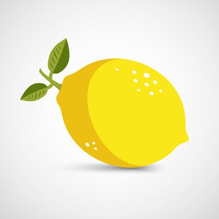 ripe: One vector ripe lemon in closeup