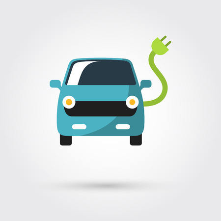 automobile industry: electric car icon Illustration