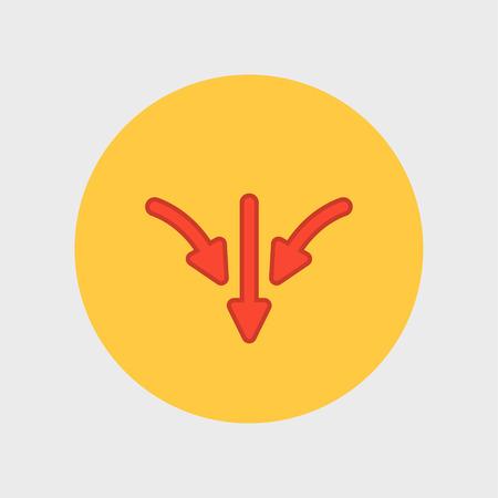 upward movements: flat arrow icon