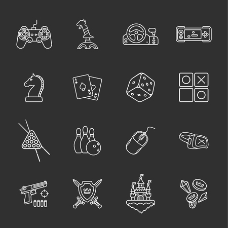 sixteen: sixteen flat game icons