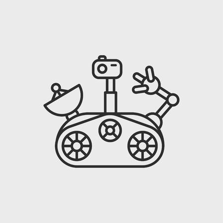 The Mars rover Vettoriali