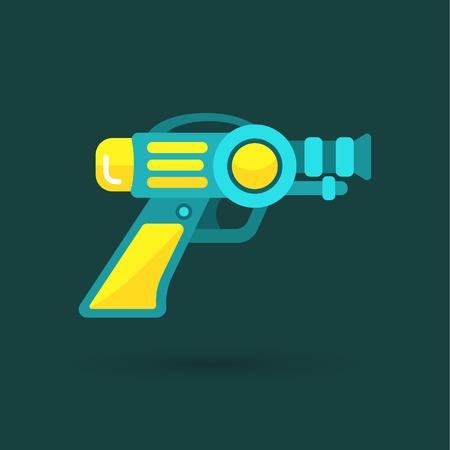 shoot: Space Laser Ray Gun. Gun toy icon Illustration