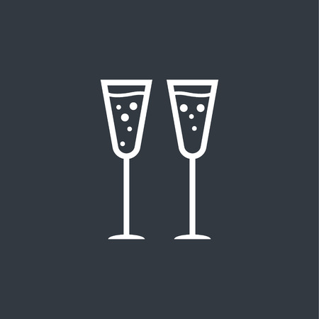 clink: glasses of champagne