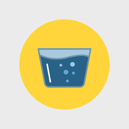 glassful: Glass of Water icon Illustration