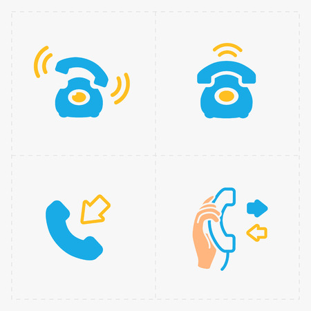 botton: Phone colorful icons, vector illustration.