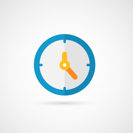 office time: Vector clock icon.