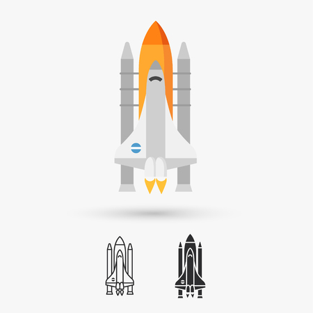 shuttle: Space shuttle vector icon Illustration