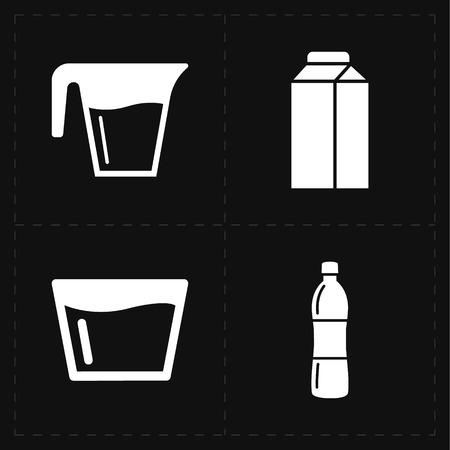 glassful: 4 modern flat bar icons