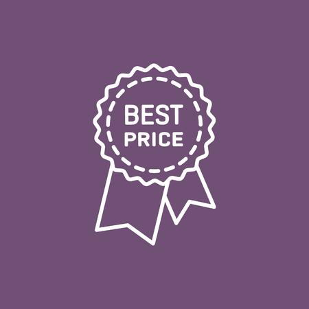 contentment: Best price guarantee label icon.