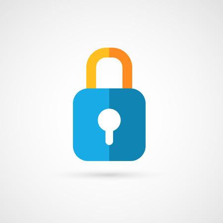 lockout: Flat icon of padlock.