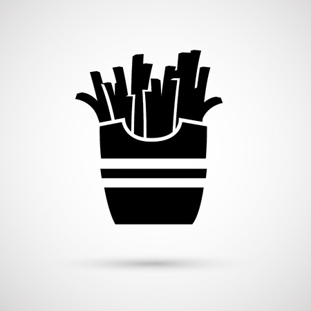 appetizing: Vector icon appetizing tasty French fries