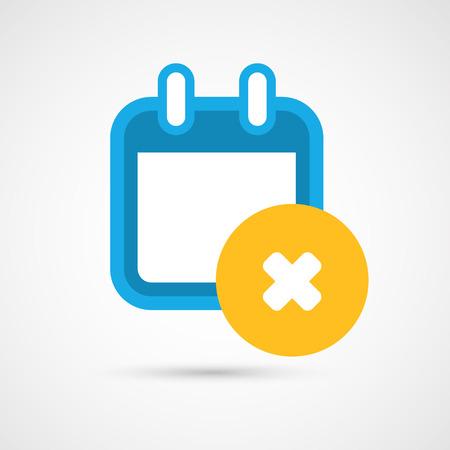 delete: Vector Calendar Icon - delete Illustration