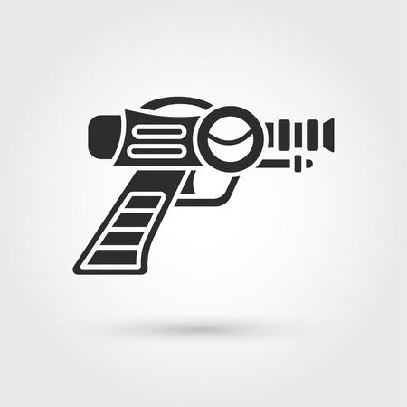 ray gun: Space Laser Ray Gun. Gun toy icon Illustration