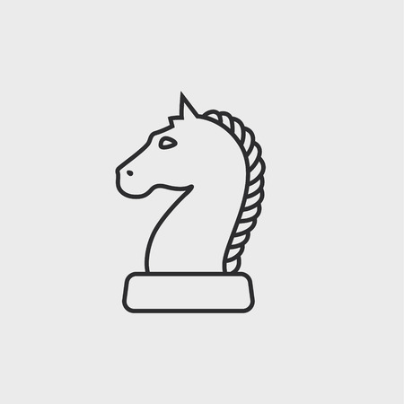 chess knight: Caballero del ajedrez simple icono