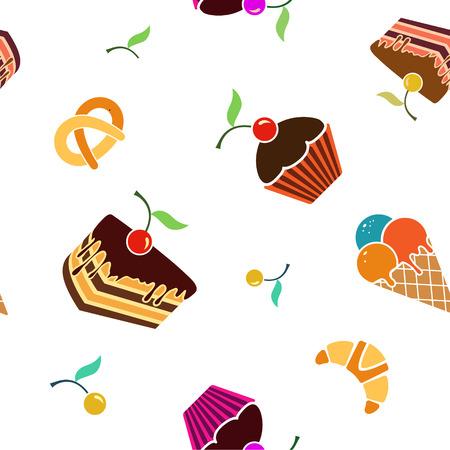 Eten en drinken naadloze vector patroon
