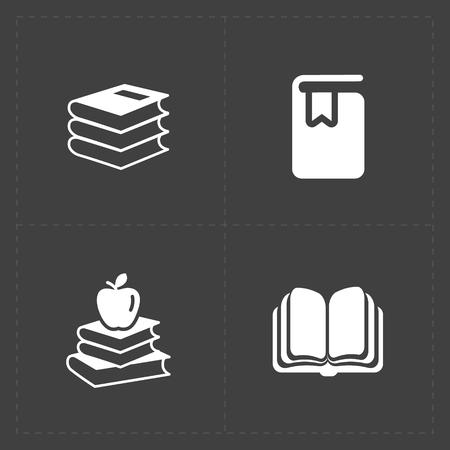Moderne Web-Bücher auf dunkel eingestellt. Standard-Bild - 78842965