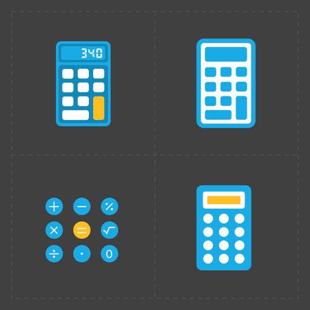 addition: Colorful calculator icons set