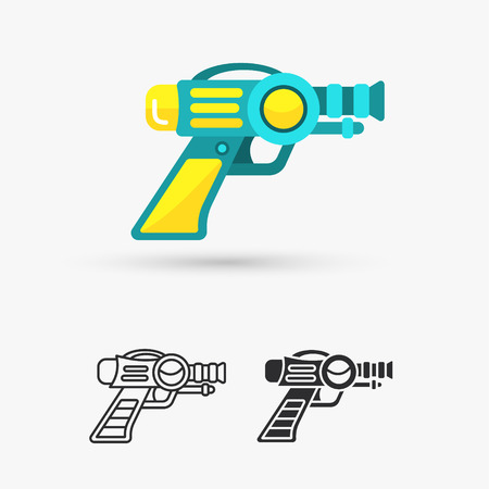 Space Laser Ray Gun. Gun toy icon Illustration