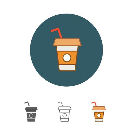 Disposable coffee cup icon Фото со стока - 79256435
