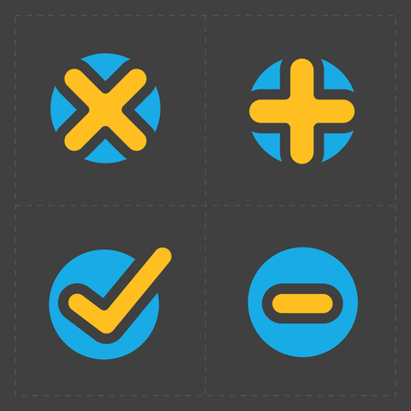 confirm: Vector colorful confirm icons set