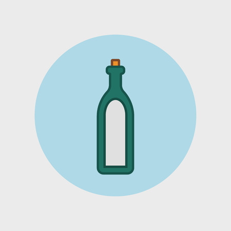 gin: Alcohol sign icon. Drink symbol. Bottle