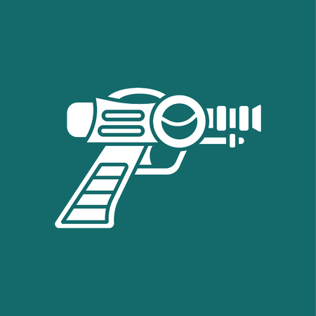 Space Laser Ray Gun. Gun toy icon Illustration