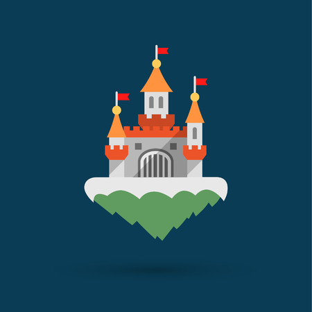 Abstract castle icon Illustration