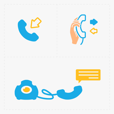Phone colorful icons, vector illustration.