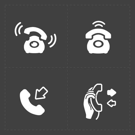 Phone icons, vector illustration.